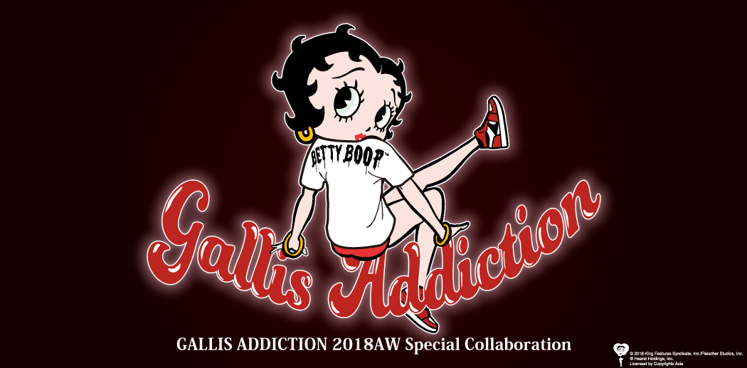 BETTY BOOP×GALLIS ADDICTION