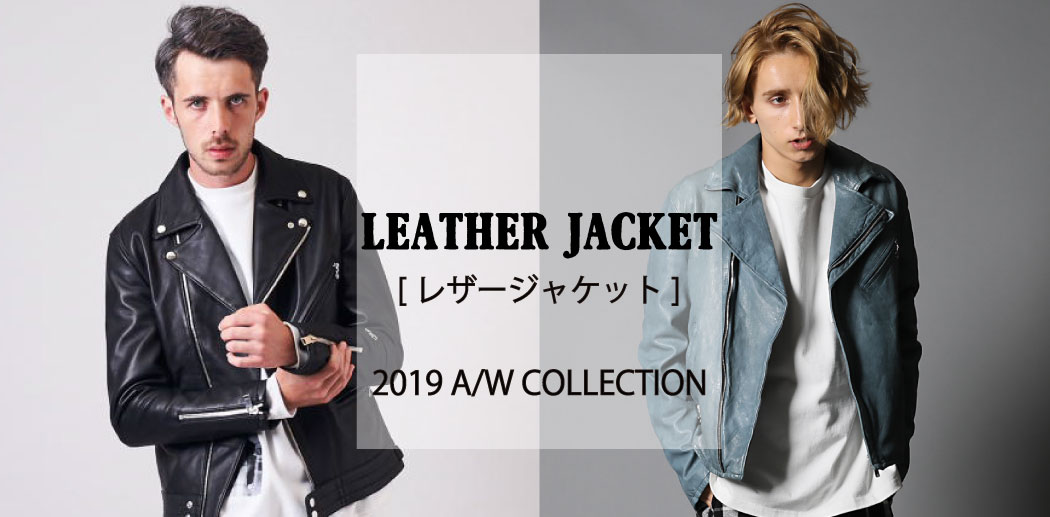 【JACKROSE】LEATHER JACKET