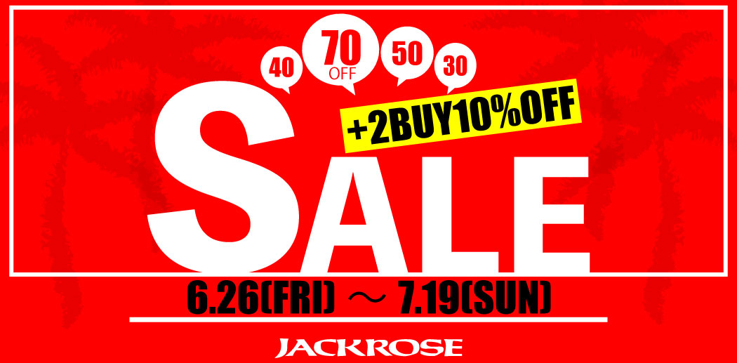 【JACKROSE】SUMMER SALE2020