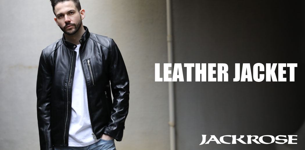 【JACKROSE】 LEATHER JACKET.